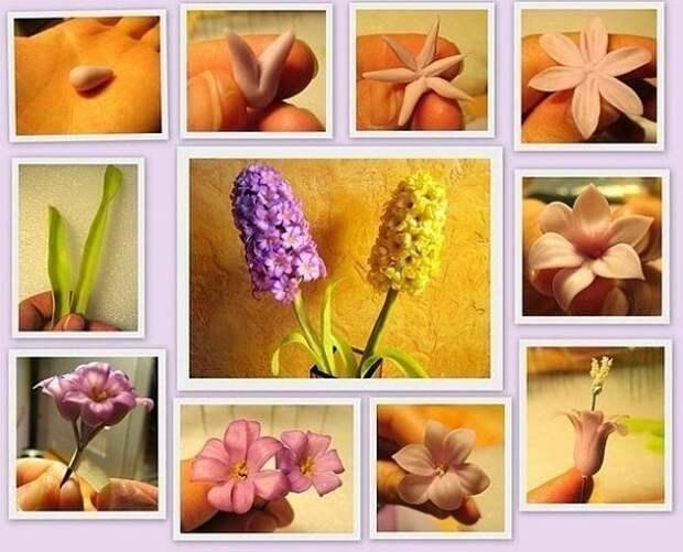 САМОДЕЛКИ.  МК по лепке цветов