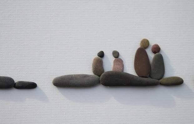 Картинка панно из камней, идеи для творчества