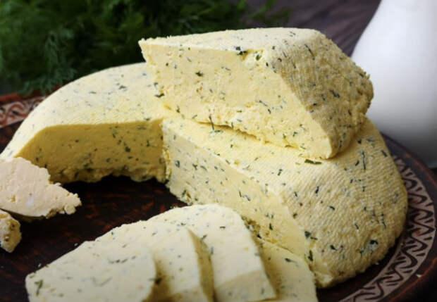 Твердый сыр к завтраку за 15 минут: делаем из молока
