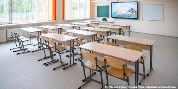 Собянин оценил ход строительства новой школы на 300 мест в Солнцеве / Фото: М.Мишин, mos.ru