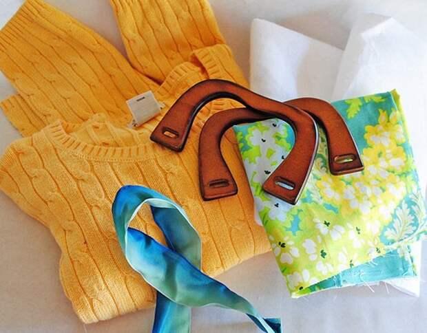 хендмейд сумка из свитера