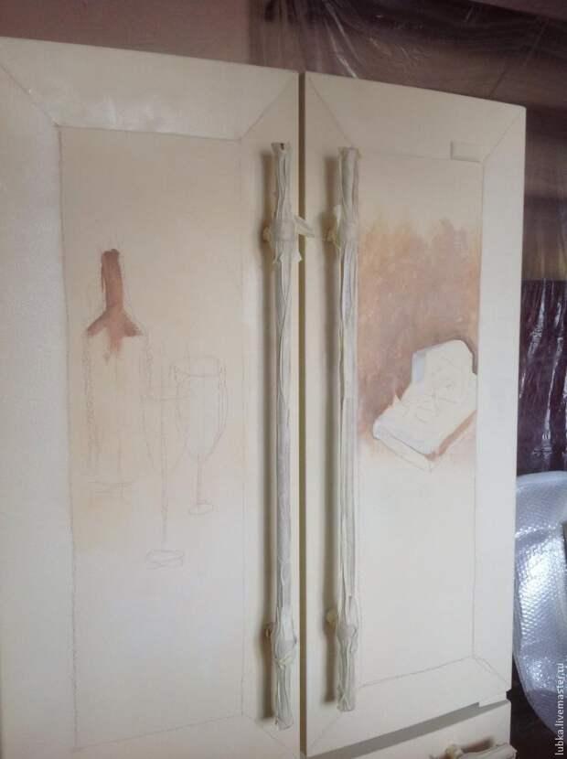 Роспись и декор холодильника в стиле прованс
