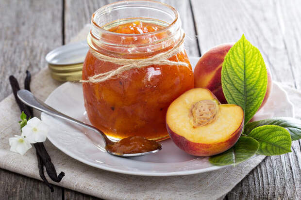 Варенье из кабачков с персиками и лимоном