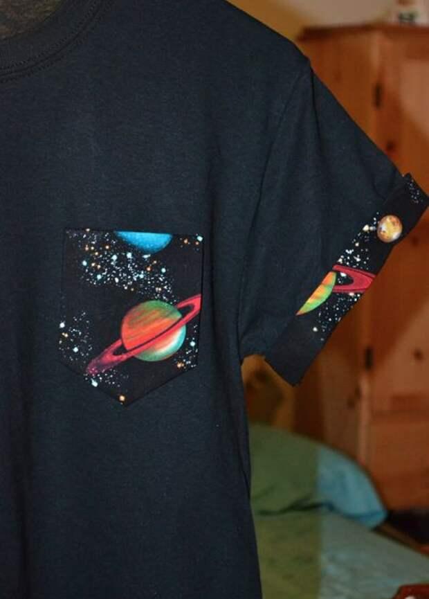 футболка космос