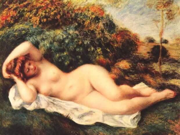 Renoir - Sleeping Bather. «Спящая купальщица (Булочница)» Автор Ренуар Пьер-Огюст . Фото