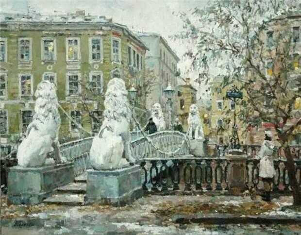 Питерские пейзажи современного импрессиониста Павла Еськова: Город, заплаканный ливнями