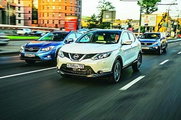Сравнительный тест Nissan Qashqai, Subaru XV и Kia Sportage: белый начинает и…
