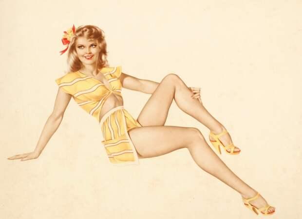 Сексуальные образы девушек в работах Альберта Варгаса (Alberto Vargas).