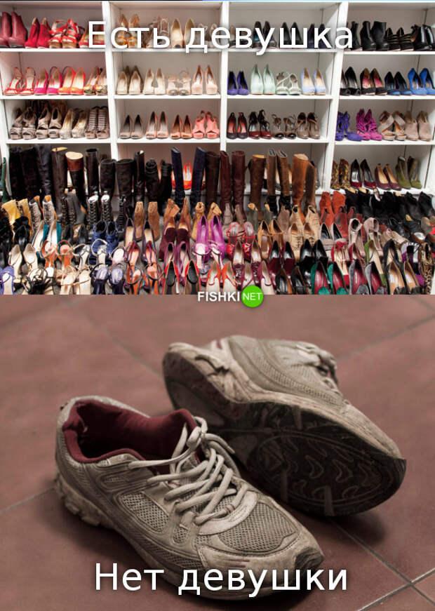 Запасы обуви в квартире девушка, пара, семья