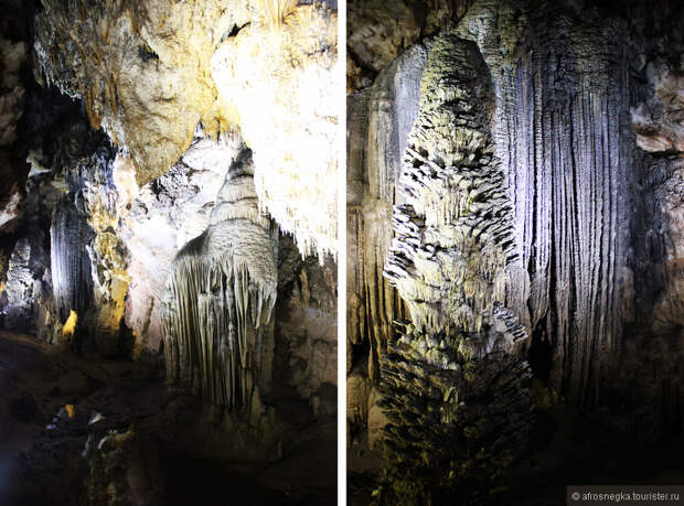 Сказочная красота сталагмитов и сталактитов