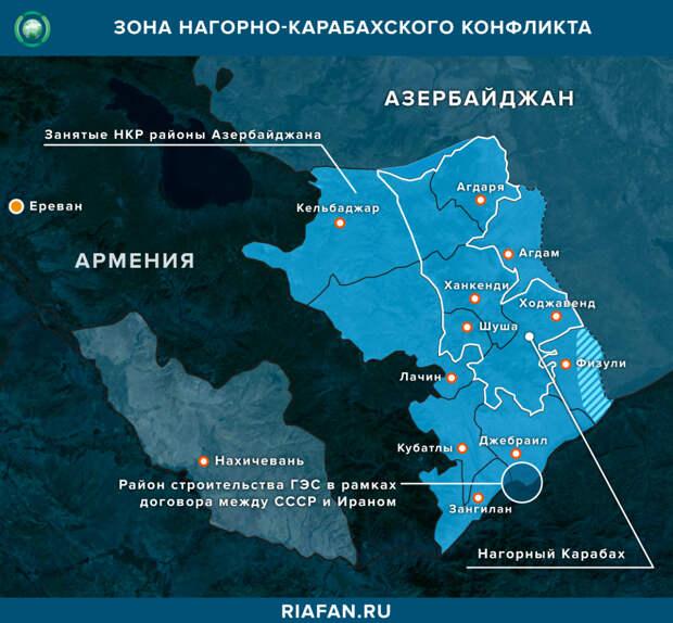 Военное противостояние в Нагорном Карабахе
