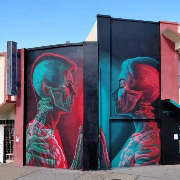 Рисунок на стене рентген
