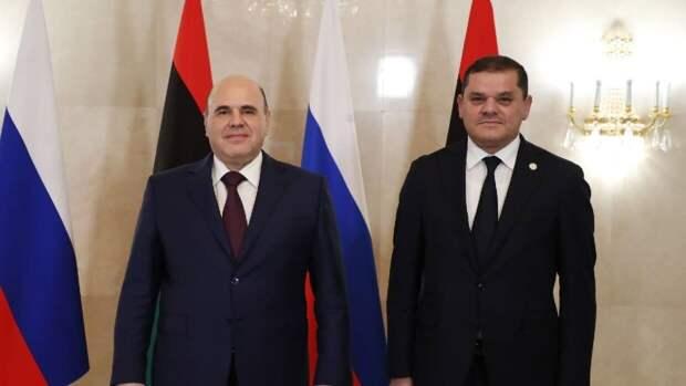 Премьер Ливии провел встречу с Мишустиным во время визита в Москву