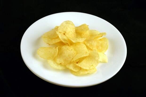 Картофельные чипсы — 37 г диета, еда, калории