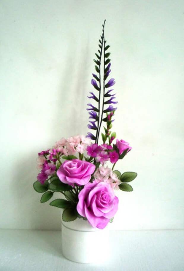 Розы из капрона. Красивые идеи и мастер-класс (50) (398x587, 152Kb)