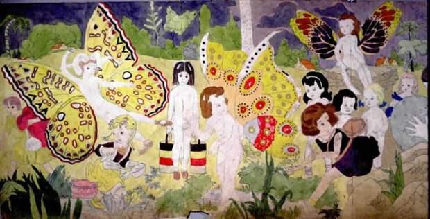 Иллюстрации из книги История о девочках Вивиан.