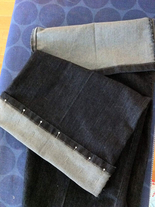 Как укоротить джинсы исохранить фабричный шов