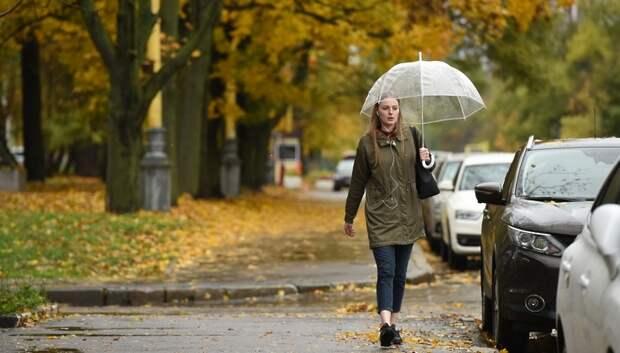 Пасмурная и дождливая погода установится в Подольске в среду