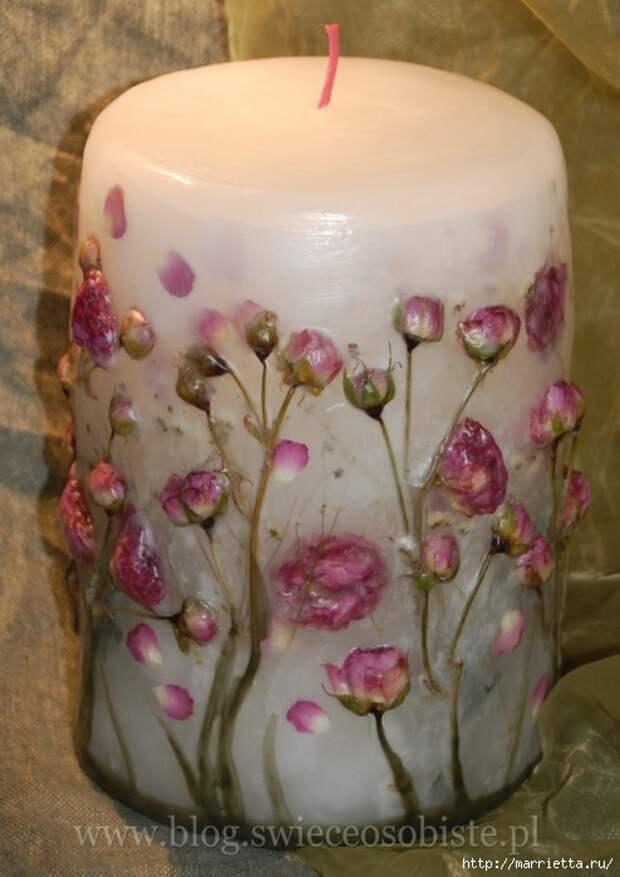 цветочные свечи ручной работы (66) (494x700, 223Kb)
