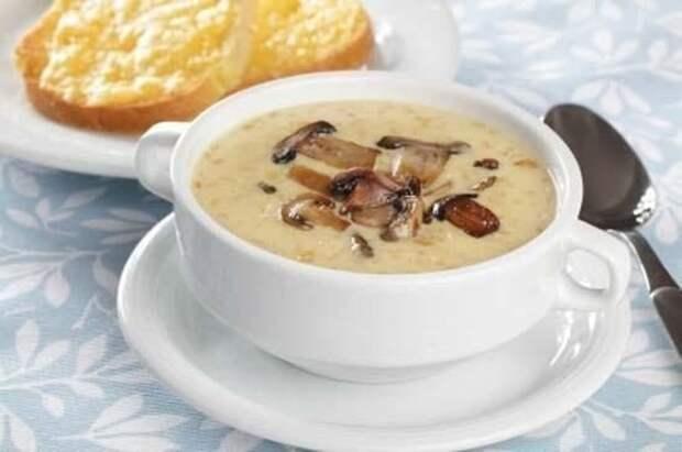Грибной суп с сыром●