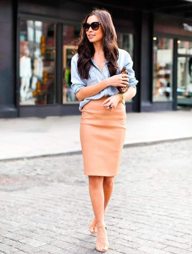 Как нескучно носить прямую юбку