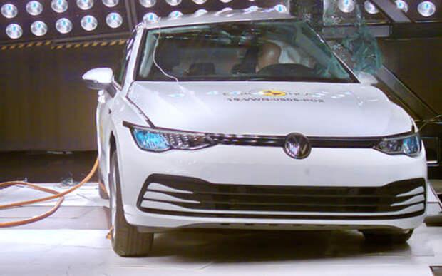 VW Golf получил 5 звезд Euro NCAP, несмотря на серьезные проблемы