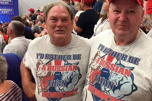 Футболка с надписью Лучше я буду русским, чем демократом