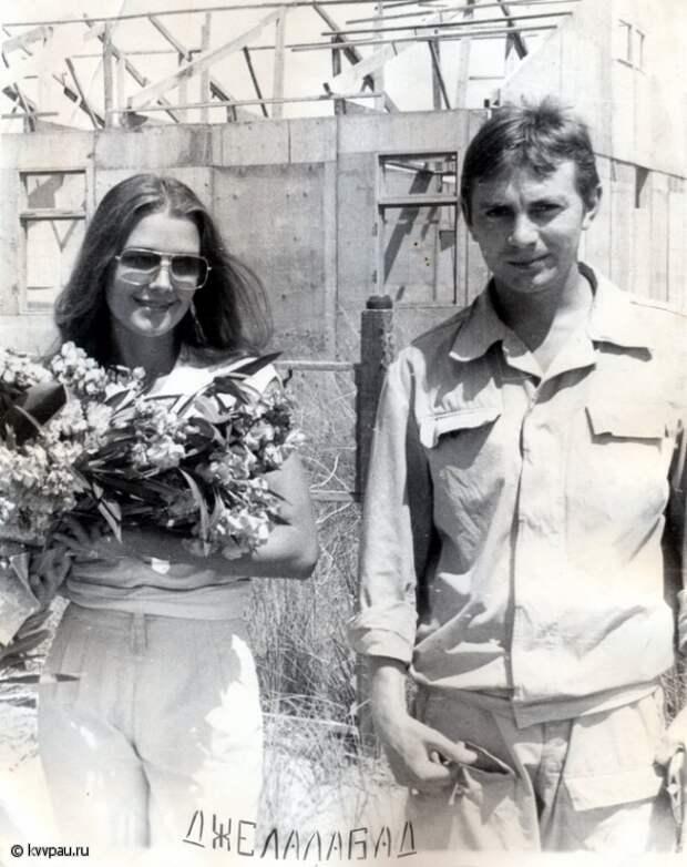 Ирина Алферова в Афганистане.