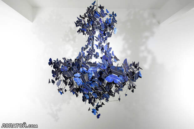 Абажур из бабочек фото
