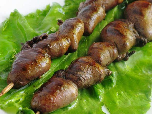 Шашлык из куриных сердечек: лучшие рецепты приготовления на мангале, сковороде и в духовке