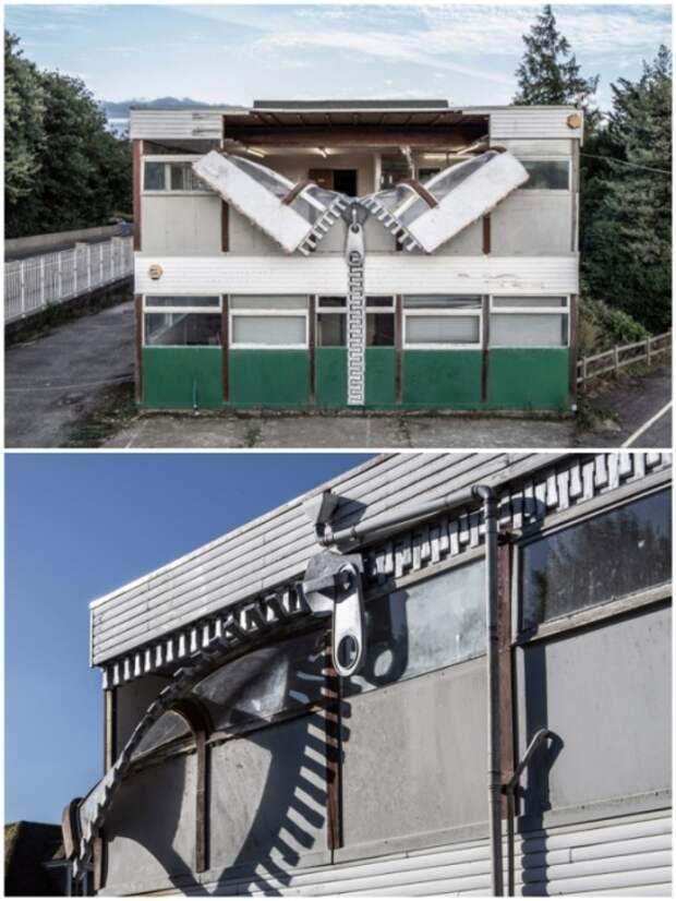 Павильон старой кожевенной фабрики «застегнули» на молнию (Эшфорд, Великобритания).