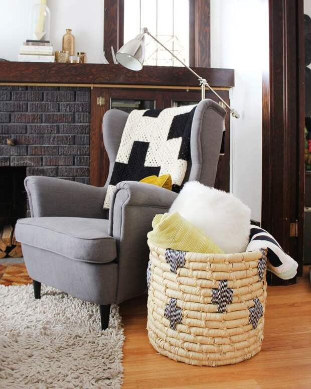 Декор плетёной корзины