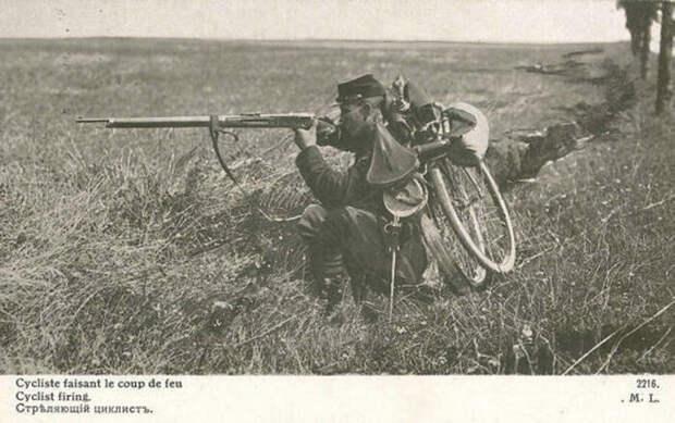 Складной боевой велосипед.