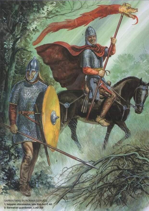 Боспор Киммерийский: 1 - боспорский пехотинец (конец II - начало I в. до н.э.); 2 - офицер боспорской легкой кавалерии (II в. н.э.); 3 - боспорский тяжелый пехотинец (II в. н.э.)