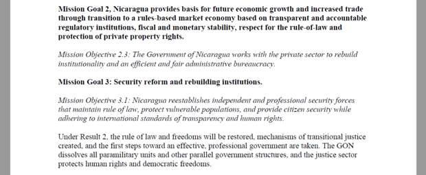 План свержения правительства в Никарагуа
