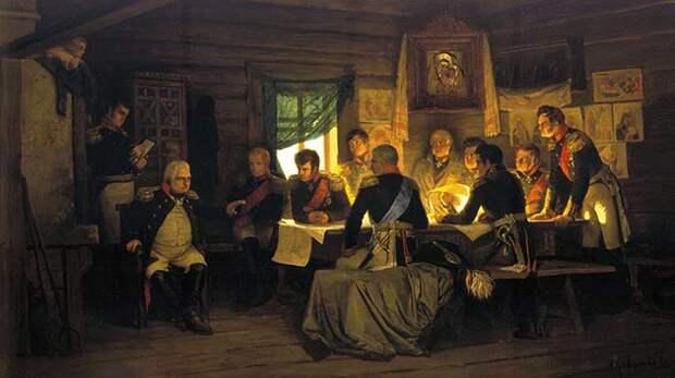 Военный совет в Филях. А. Д. Кившенко, 1880 год.jpg