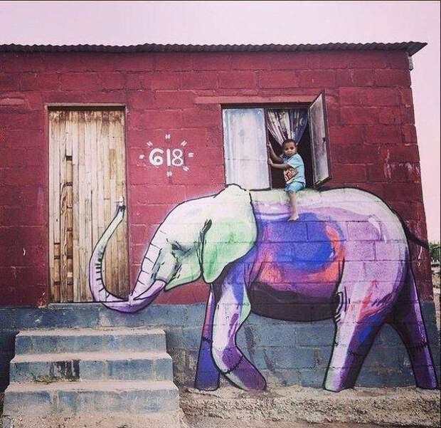 Как покататься  на слоне?