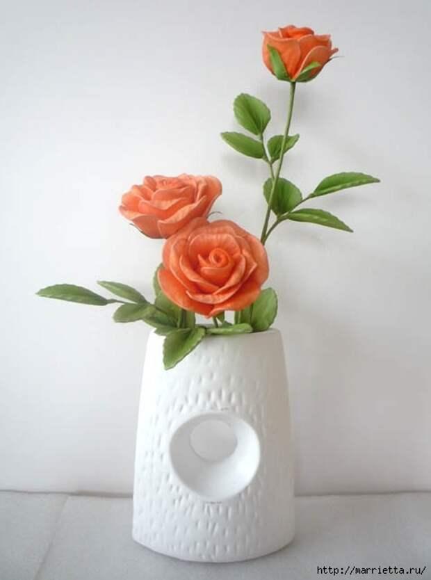 Розы из капрона. Красивые идеи и мастер-класс (41) (475x639, 89Kb)