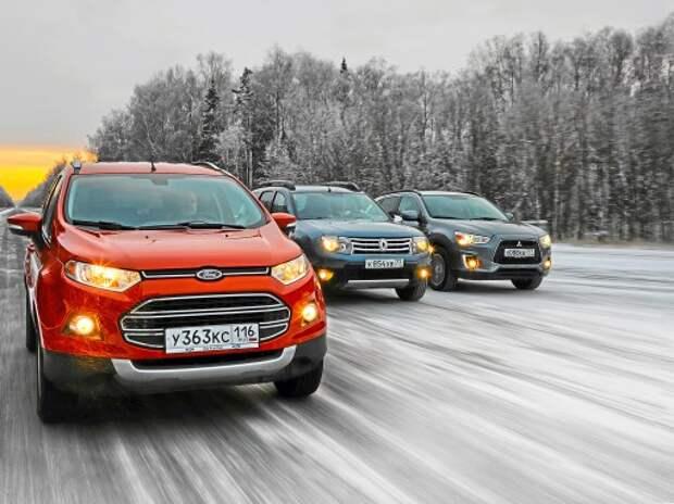 Ford EcoSport против Mitsubishi ASX и Renault Duster: гуляет сам по себе