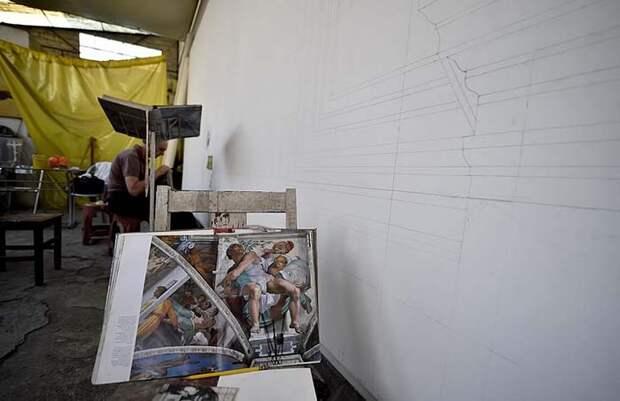 Мексиканский пенсионер повторил все фрески Сикстинской капеллы