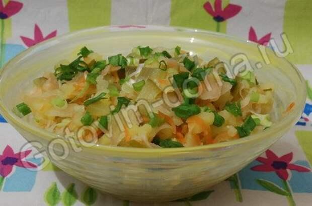 рецепт Салат из картофеля с квашеной капустой