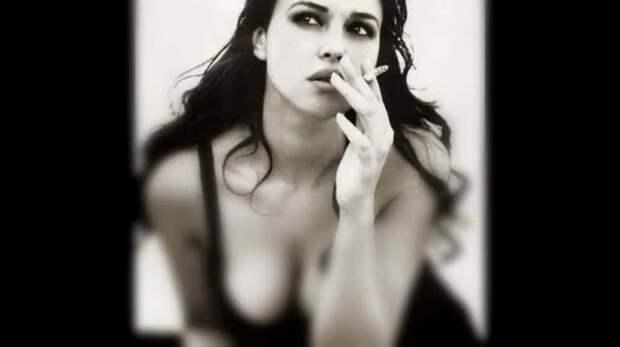 Сексуальное фото с сигаретой актриса, знаменитости, кинодива, красота, моника беллуччи, самая сексуальная женщина, секс-символы, фото