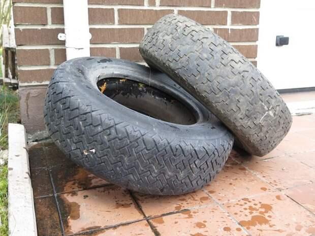 пруд из шины