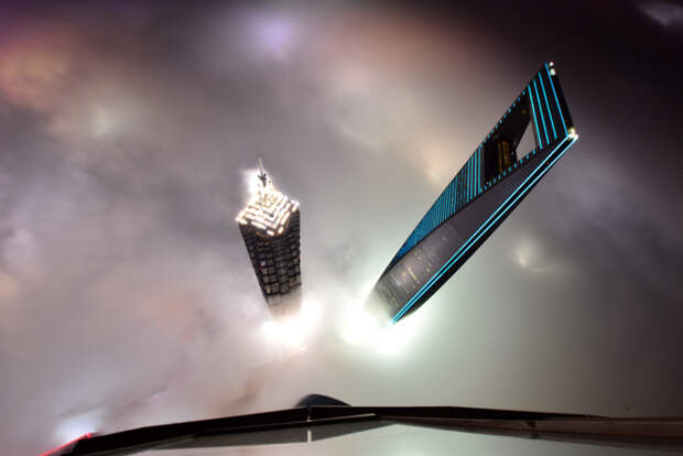 Вид с Шанхайской башни, Китай интересное, фото, фотоподборка