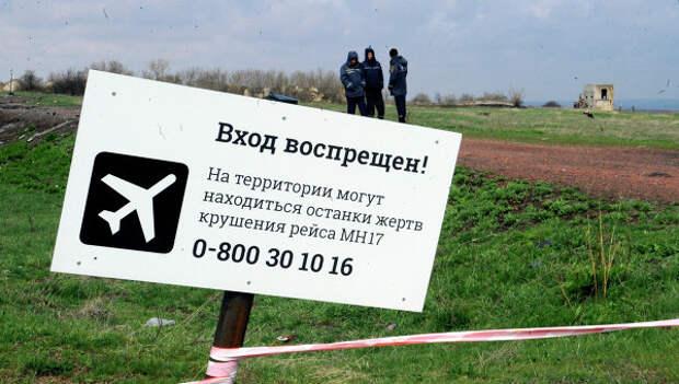 Место крушения Боинга в Донецкой области. Архивное фото