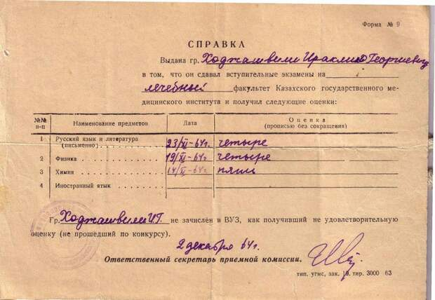 Целиноград, Главпочтамт,  До востребования   ч.3