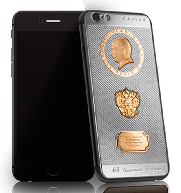 Ювелирный бренд выпустил «президентский» iPhone 6S ко дню рождения Владимира Путина