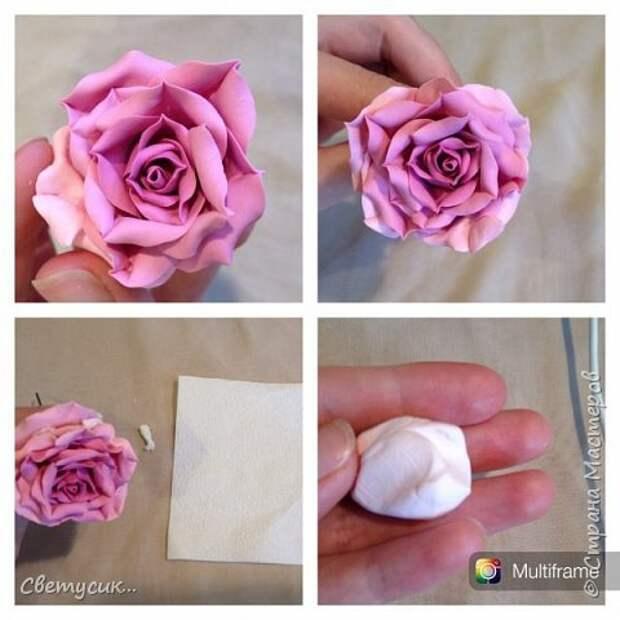 Мастер-класс Флористика искусственная Лепка МК розы из ХФ как и обещала Фарфор холодный фото 23