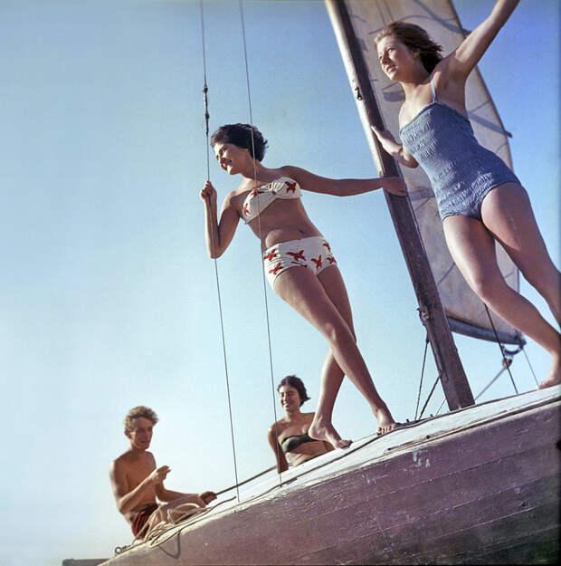 Прогулка на яхте, Московская область. 1963: СССР в фото, подборка