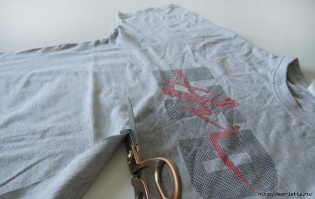 Вязание пряжей из футболок. Как нарезать пряжу (6) (700x442, 211Kb)